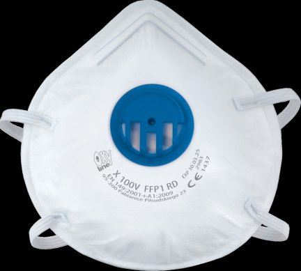 Półmaska przeciwpyłowa filtrująca X 100 V FFP1 R D (50 szt.)