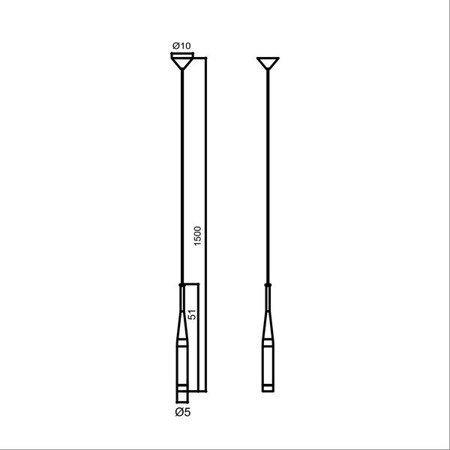LAMPA WEWNĘTRZNA (WISZĄCA) ZUMA LINE CONTE PENDANT MD1998-1BL Zuma Line
