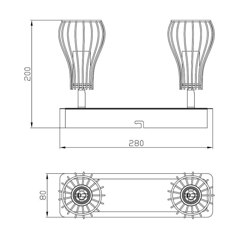 Lampa sufitowa OSCAR CK170519-2 Zuma Line