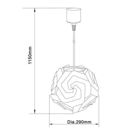 LAMPA WEWNĘTRZNA (WISZĄCA) ZUMA LINE GRADA PENDANT TL-1060P-A Zuma Line