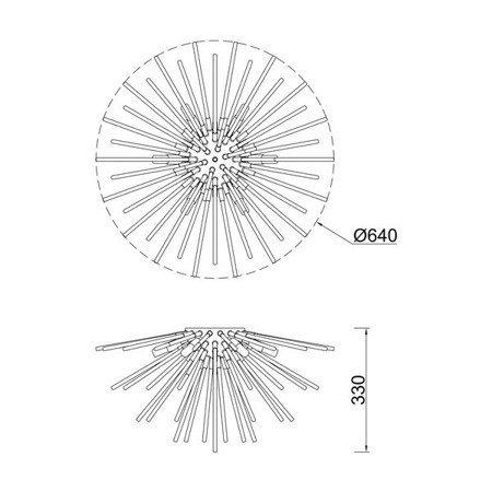 LAMPA WEWNĘTRZNA (SUFITOWA) ZUMA LINE URCHIN CEILING C0491-06B-F7DY Zuma Line