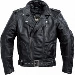 POLO Spirit Motors Bayfield motocyklowa kurtka ramoneska vintage skórzana czarna