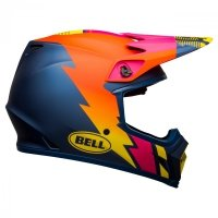 KASK BELL MX-9 MIPS STRIKE MATTE BLUE/ORANGE/PINK M