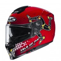 KASK HJC R-PHA-70 ISLE OF MAN IOM TT BLACK/RED L