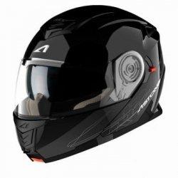 Astone RT 1200 kask szczękowy czarny połysk