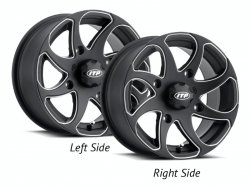 ITP TWISTER 1422329727BR 14x7 4/156 5+2 Black Milled RIGHT