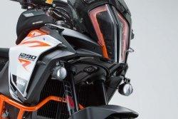 ZESTAW MONTAŻOWY LAMP KTM 1290 SUPER ADVENTURE (16-) BLACK SW-MOTECH