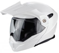 Scorpion ADX-1 kask motocyklowy szczękowy z daszkiem Dual Touring Adventure biały