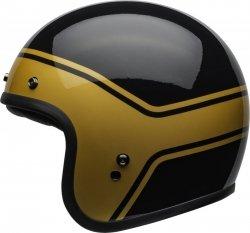 KASK BELL CUSTOM 500 DLX STREAK GLOSS BLACK/GOLD