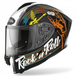 KASK AIROH SPARK ROCK N ROLL BLACK GLOSS XS