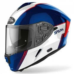KASK AIROH SPARK FLOW BLUE/RED GLOSS S