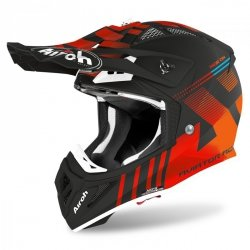 KASK AIROH AVIATOR ACE NEMESI ORANGE MATT XL