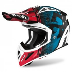 KASK AIROH AVIATOR ACE KYBON BLUE/RED GLOSS L