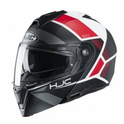 KASK HJC I90 HOLLEN BLACK/WHITE/RED L