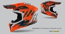 KASK AIROH AVIATOR 3 RAMPAGE ORANGE GLOSS S
