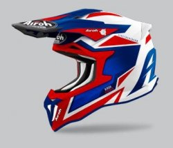 KASK AIROH STRYCKER AXE BLUE/RED GLOSS XL