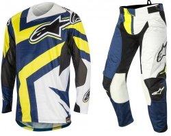 Alpinestars Techstar Factory spodnie motocyklowe 36 + bluza motocyklowa L - Komplet odzieży MX enduro Wyprzedaż Kolekcji!