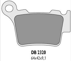 Delta Braking KTM 350 SX-F/XC-F (11-14) klocki hamulcowe tył