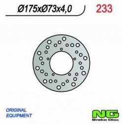Tarcza hamulcowa PIAGGIO tylna - NRG 50 (99-02) / przednia - Zip 50 (00>)