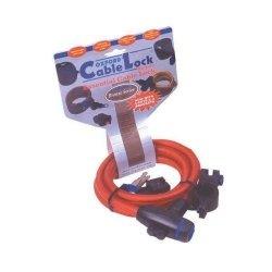 Oxford linka Cable Lock z zamknięciem 1,8m - ciemna
