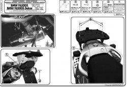 KAPPA K6390 stelaż kufra centralnego BMW F 650 GS - GS Dakar (00-03)