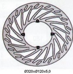 Tarcza hamulcowa przednia Husqvarna TC 250 (02-05-)