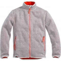 PHARAO Bluza Sweter Kurtka Polar rozpinana na zamek Wełniana Szara/Pomarańczowa