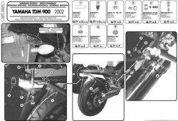 KAPPA  stelaż kufra centralnego Yamaha TDM 900 (02-14)
