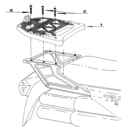 KAPPA stelaż kufra centralnego Honda Transalp 600, Dominator 650, Africa Twin 750