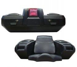 KIMPEX Kufer uniweralny Deluxe Trunk tylni z fotelem i światłem do quada