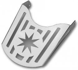 Bagażnik z blachy - gwiazda (22cm)