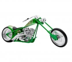 Model motocykla Custom Bike Racing zielony