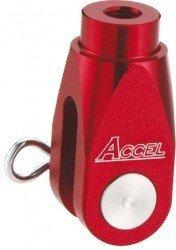 Accel końcówka ośki pompy hamulcowej tył - Honda CR/CRF (02-10) - czerwony