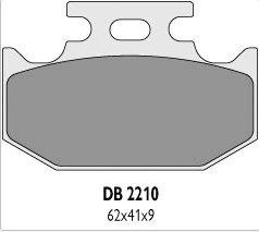 Delta Braking KAWASAKI 650 KLR (95-04) klocki hamulcowe tył