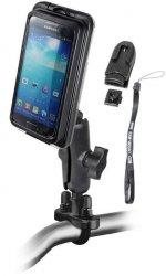 Ram Mount uchwyt uniwersalny do smartfonów z wodoszczelnym futerałem Aqua Box montowany do ramy kierownicy