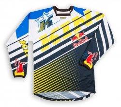 Koszulka MX offroad Kini Red Bull Vintage 2016 żółto-niebieska