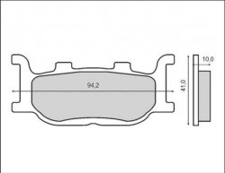 Brenta klocki hamulcowe złote przód Yamaha XJ 6 Diversion (09-15)
