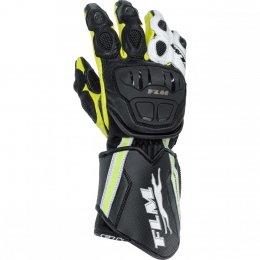 FLM GP 6 rękawice motocyklowe czarno-biało-żół<br />te