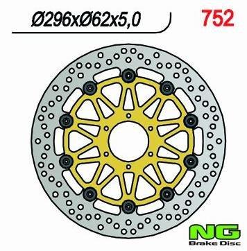 NG Tarcza hamulcowa przednia HONDA 800 VFR (98-16) 296x62x5,0