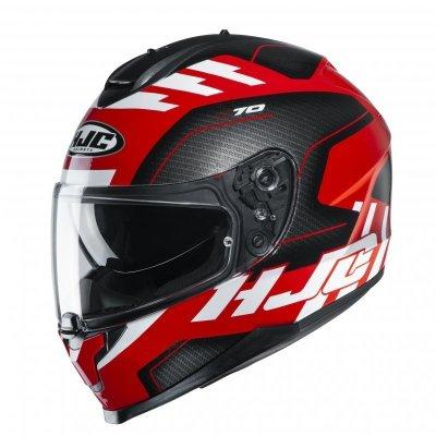 KASK HJC C70 KORO BLACK/RED/WHITE M
