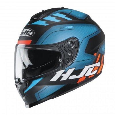 KASK HJC C70 KORO BLUE/BLACK/ORANGE S