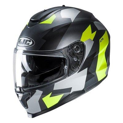 HJC C70 KASK MOTOCYKLOWY VALON BLACK/FLO GREEN