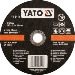 YATO TARCZA DO CIĘCIA METALU 230x2,0x22mm  5927
