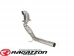 Katalizator metaliczny 200cpsi i rura elastyczna RAGAZZON EVO LINE sportowy wydech