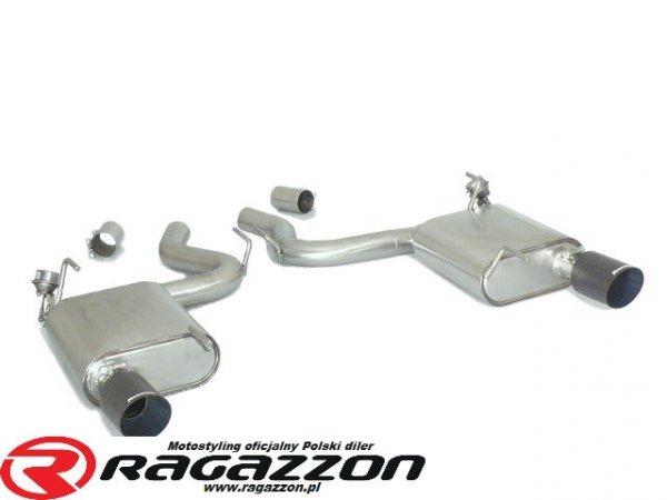Tłumik końcowy podwójny + zawory RAGAZZON EVO LINE CARBON RACING sportowy wydech