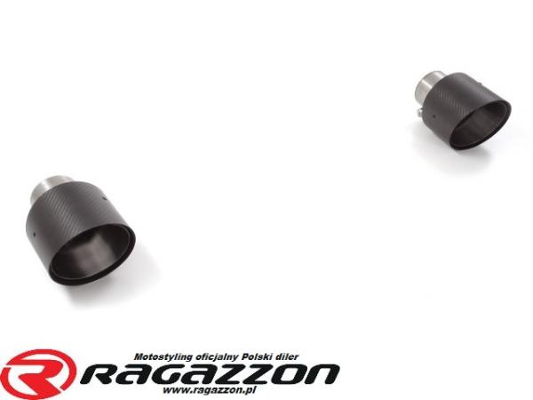 Końcówki wydechu CARBON RAGAZZON EVO LINE sportowy wydech