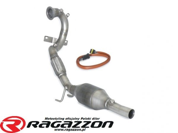 Downpipe + katalizator metaliczny RAGAZZON EVO LINE sportowy wydech