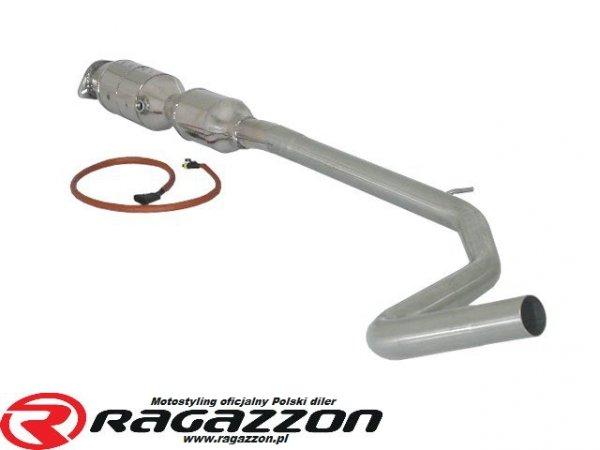 Sportowy wydech środkowy + katalizator metaliczny RAGAZZON EVO LINE sportowy wydech