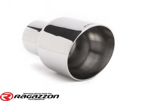 Tłumik środkowy przelotowy + końcowy podwójny RAGAZZON EVO LINE sportowy wydech