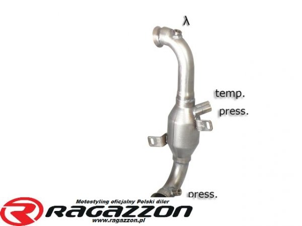 Katalizator / filtr DPF cząsteczek stałych RAGAZZON EVO LINE sportowy wydech